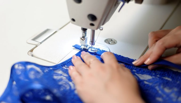 How to Sew Stretch Fabric with a Sewing Machine tips featured by top US sewing blogger, The Sewing Korner