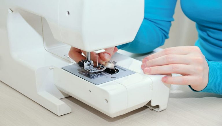 How to load a bobbin into a sewing machine, a guide featured by top US sewing blogger, The Sewing Korner