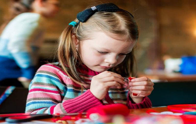 How to Teach a Child to Sew by Hand, tips featured by top US sewing blog, The Sewing Korner