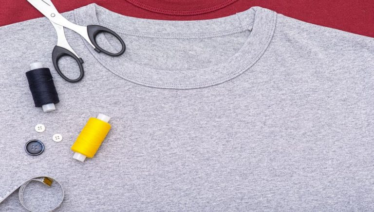 how to alter a tshirt by hand, a tutorial featured by top US sewing blog, The Sewing Korner