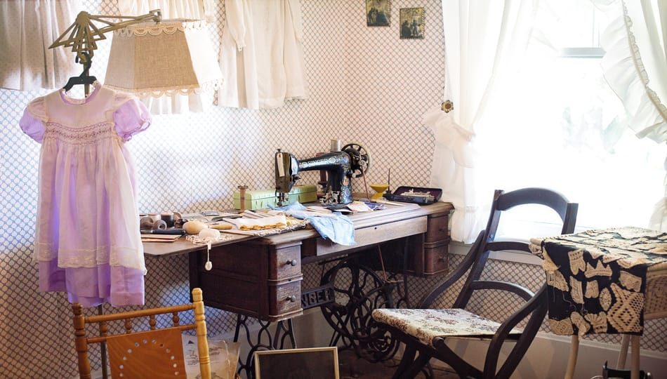 Canva - 950 x 540 A Homey Scenery What Is a Treadle Sewing Machine