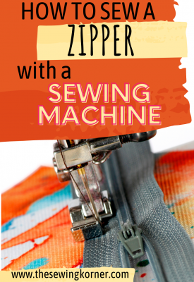 How to sew a zipper with a sewing machine, a tutorial featured by top US sewing blog, The Sewing Korner