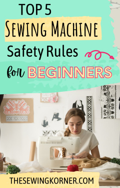 Sewing Machine Safety Rules featured by top US sewing blog, The Sewing Korner