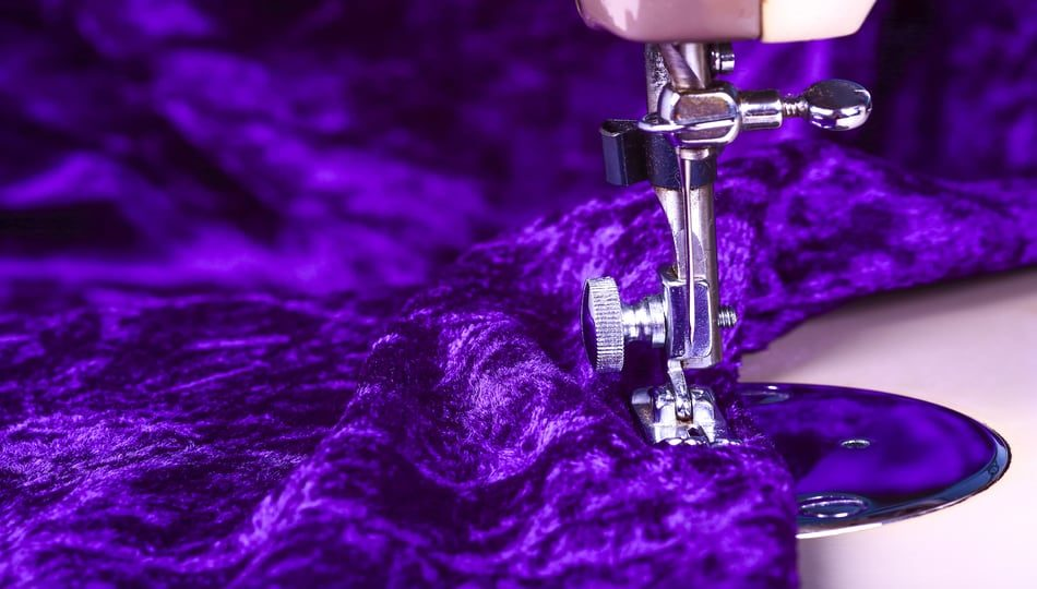 How to Sew Velvet Fabric with a Sewing Machine, a tutorial featured by top US sewing blogger, The Sewing Korner