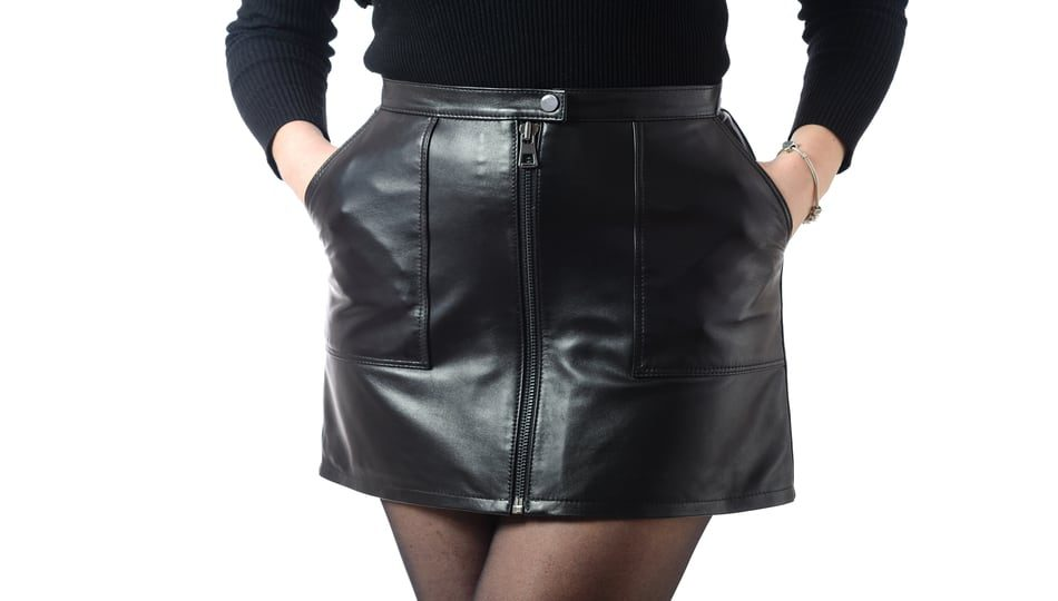 How to Hem a leather skirt, a sewing tutorial featured by top US sewing blog, The Sewing Korner
